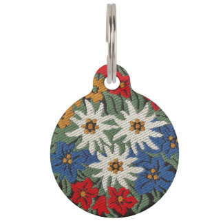 Edelweiss Swiss Alpine Flower Pet Tag