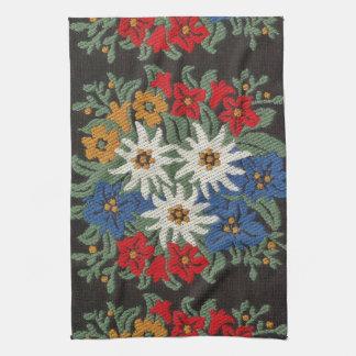 Edelweiss Swiss Alpine Flower Tea Towel