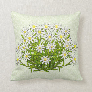 Edelweiss Swiss Mountain Flowers Pillow