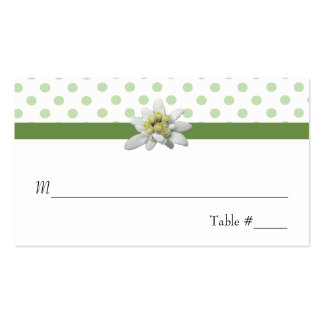 Edelwiess and Polka Dots Wedding Place Card Pack Of Standard Business Cards