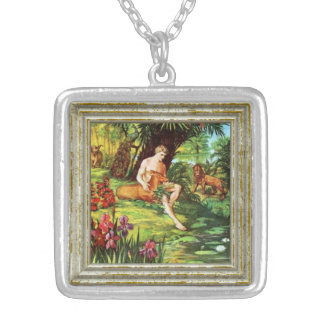 Eden Adam In The Garden Silver Plated Necklace