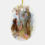 Eden Eve And The Serpent Ceramic Oval Decoration
