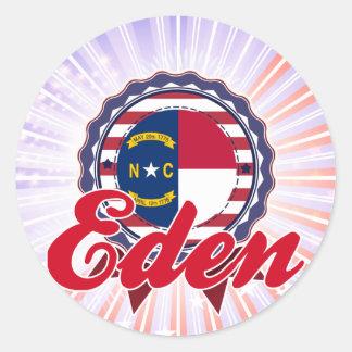 Eden, NC Classic Round Sticker