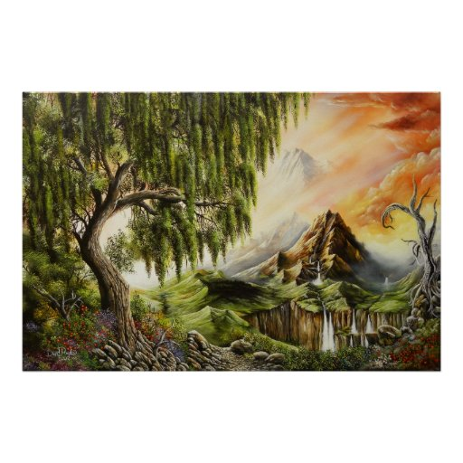 Eden Oil Paintings Poster