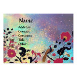 EDEN /Whimsical Magic Garden in Blue Gold Sparkles Pack Of Chubby Business Cards