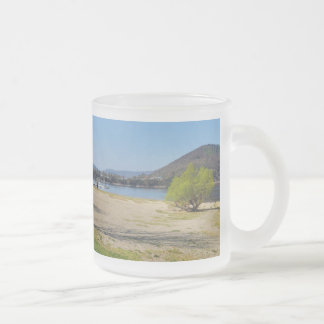Edersee at the deer brook frosted glass coffee mug
