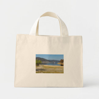 Edersee at the deer brook mini tote bag