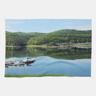 Edersee bay with separate hand towels
