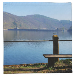 Edersee concrete dam from the water side napkin