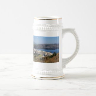 Edersee concrete dam in the spring beer stein
