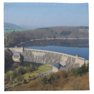 Edersee concrete dam in the spring napkin