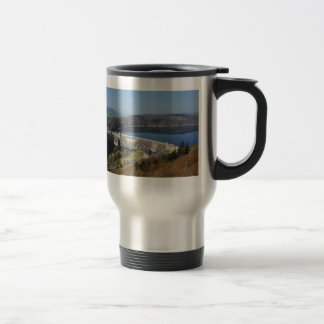 Edersee concrete dam in the spring travel mug