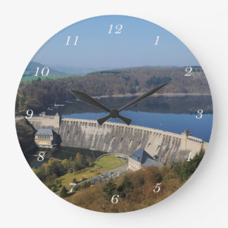 Edersee concrete dam in the spring wall clocks
