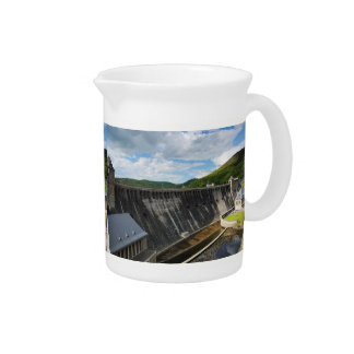 Edersee concrete dam with closed forest-hits a drink pitcher