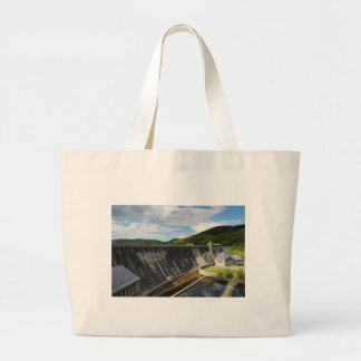 Edersee concrete dam with closed forest-hits a large tote bag