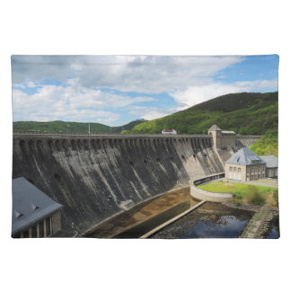 Edersee concrete dam with closed forest-hits a placemat