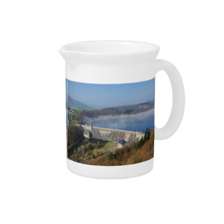 Edersee concrete dam with fog pitcher