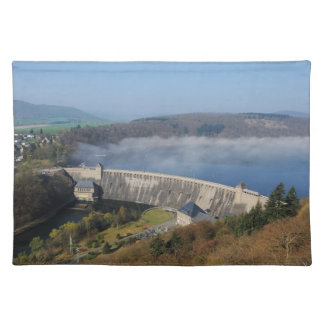 Edersee concrete dam with fog placemat