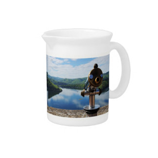 Edersee prospect of closed forest-hits a corner beverage pitcher