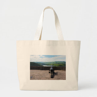 Edersee prospect of closed forest-hits a corner large tote bag