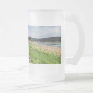 Edersee village place of Berich Frosted Glass Beer Mug