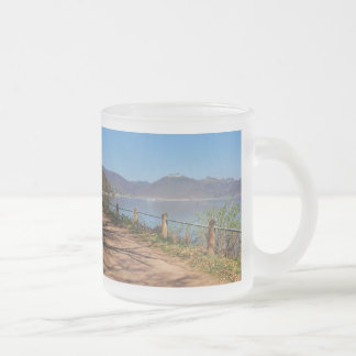 Edersee with lock forest-hit a corner frosted glass coffee mug