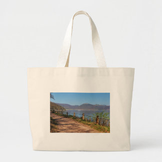 Edersee with lock forest-hit a corner large tote bag