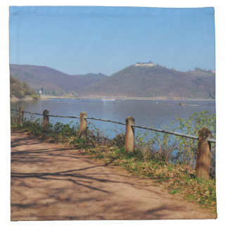 Edersee with lock forest-hit a corner napkin