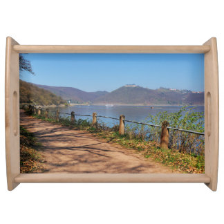 Edersee with lock forest-hit a corner serving tray