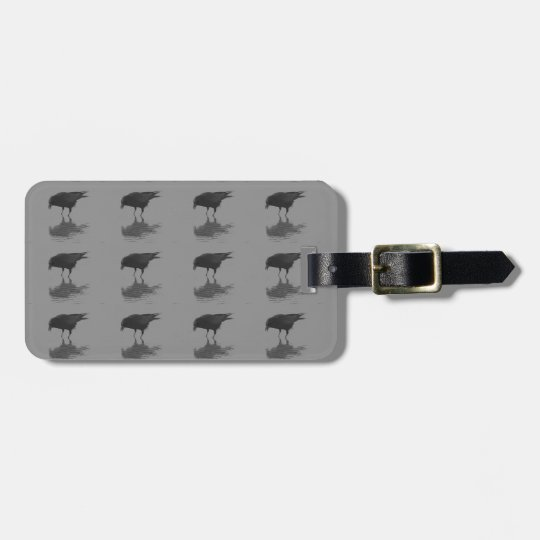 Edgar Allan Crow Repeat Luggage Tag