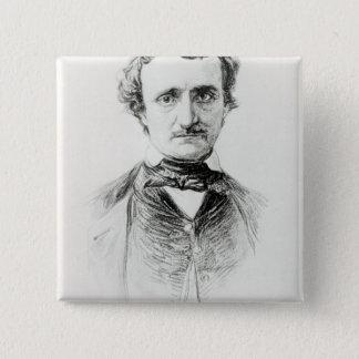 Edgar Allan Poe  1907 15 Cm Square Badge