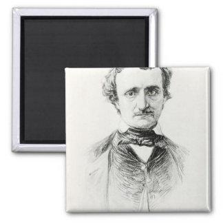 Edgar Allan Poe  1907 Square Magnet