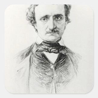 Edgar Allan Poe  1907 Square Sticker
