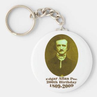 Edgar Allan Poe Basic Round Button Key Ring
