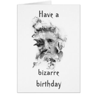 Edgar Allan Poe Birthday Card (bright cover)