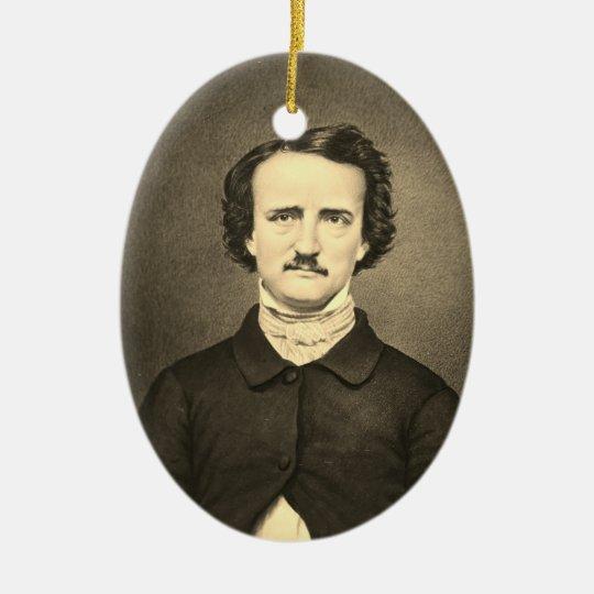 Edgar Allan Poe - Brady portrait Ceramic Oval Decoration