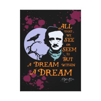 Edgar Allan Poe Dream Within A Dream Quote Gallery Wrap Canvas
