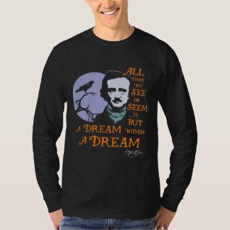 Edgar Allan Poe Dream Within A Dream Quote Tee Shirts