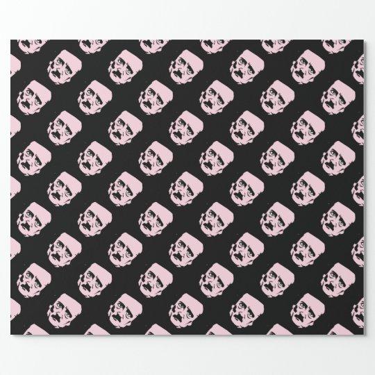 Edgar Allan Poe Face Wrapping Paper
