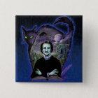 Edgar Allan Poe Gothic 15 Cm Square Badge