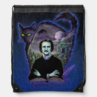 Edgar Allan Poe Gothic Drawstring Bag