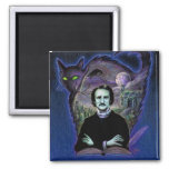 Edgar Allan Poe Gothic Magnets