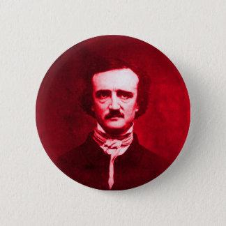 Edgar Allan Poe in Red 6 Cm Round Badge