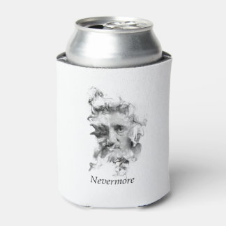 Edgar Allan Poe in Smoke with Raven - Nevermore Can Cooler