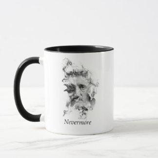 Edgar Allan Poe in Smoke with Raven - Nevermore Mug
