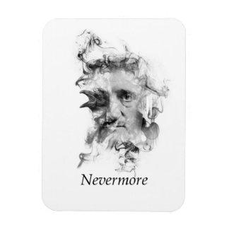 Edgar Allan Poe in Smoke with Raven - Nevermore Rectangular Photo Magnet