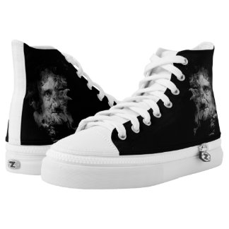 Edgar Allan Poe in Smoke with Raven Printed Shoes