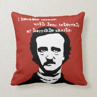 Edgar Allan Poe Insane Quote Silhouette Cushions