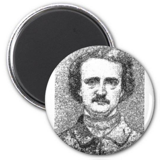 Edgar Allan Poe Portrait 6 Cm Round Magnet