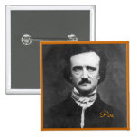 Edgar Allan Poe Portrait Pin